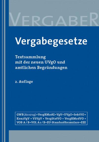 Vergabegesetze, 2. Auflage