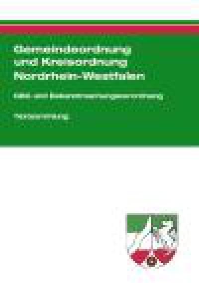 Gemeindeordnung und Kreisordnung Nordrhein-Westfalen