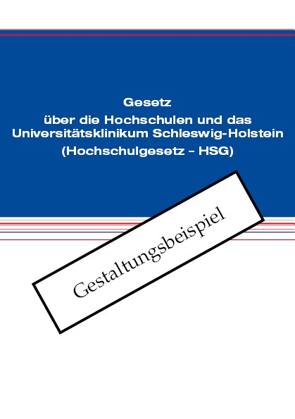 Gesetz über die Hochschulen und das Universitätsklinikum Schleswig-Holstein (Hochschulgesetz - HSG)